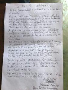Queja de Bernardo Caal Xol