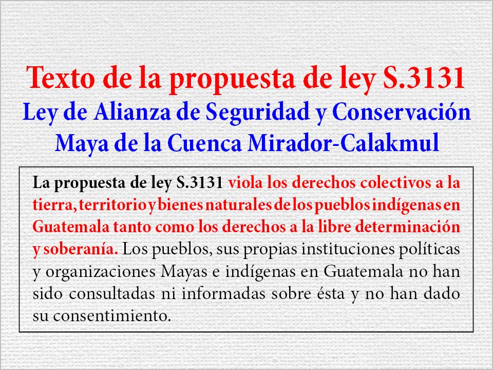Ley de Alianza de Seguridad y Conservación Maya de la Cuenca Mirador-Calakmul